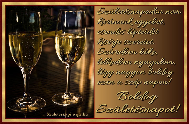 születésnapi pezsgős képek Idézetes születésnapi kép, pezsgős poharakkal   Zenés születésnapi  születésnapi pezsgős képek