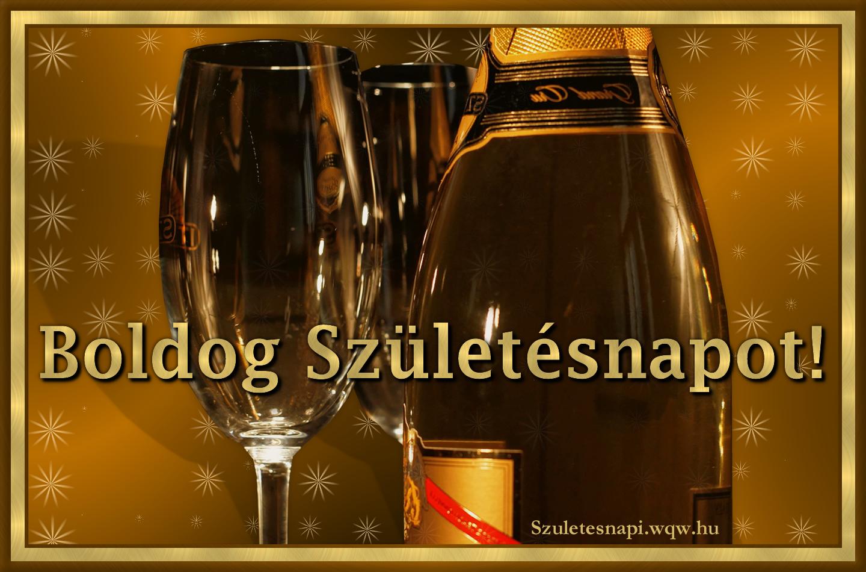 boldog születésnapot pezsgő Pezsgő és poharak, születésnapi kép férfiaknak   Zenés  boldog születésnapot pezsgő