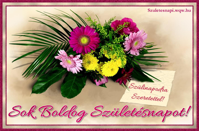 szülinapi virágcsokor képek Gerbera virágcsokor, szülinapi kép nőknek   Zenés születésnapi  szülinapi virágcsokor képek