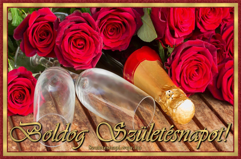 szülinapi képek nöknek Pezsgő vörös rózsákkal, szülinapi kép nőknek   Zenés születésnapi  szülinapi képek nöknek