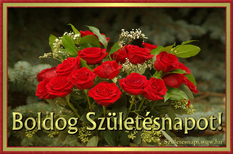 születésnapi képeslapok letöltése Vörös rózsacsokor, szülinapi kép nőknek   Zenés születésnapi  születésnapi képeslapok letöltése