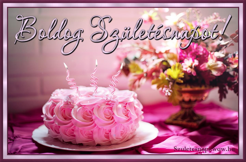 tortás születésnapi képeslapok Rózsás születésnapi torta kép   Zenés születésnapi képeslapok és képek tortás születésnapi képeslapok